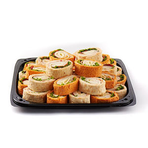 Assorted Pinwheel Wraps with Cheese Cubes Party Tray