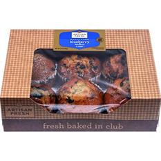 Artisan Fresh Blueberry Muffins - 35 oz. - 6 ct.