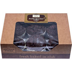 Artisan Fresh Double Chocolate Muffins - 35 oz. - 6 ct.