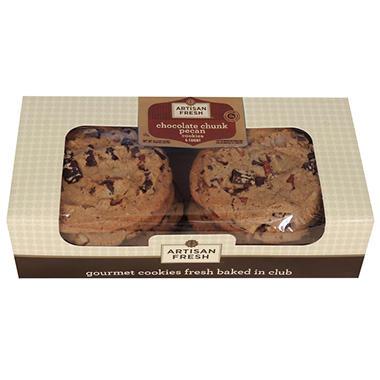 Artisan Fresh Gourmet Chocolate Pecan Cookies - 6 ct.