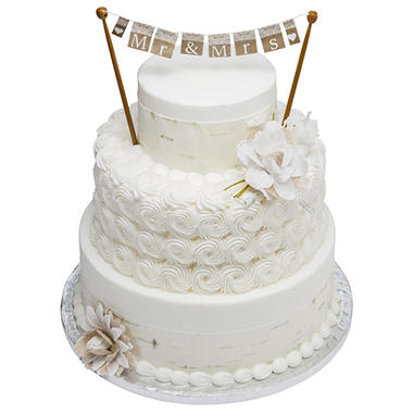 3 tier white cake with but 39 r 39 cr me icing sam 39 s club. Black Bedroom Furniture Sets. Home Design Ideas