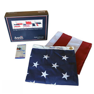 Annin - American Flag 5x8' Tough-Tex with Sewn Stripes and Embroidered Stars