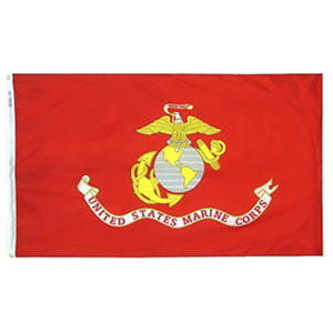 Annin - U.S. Marine Corps Military Flag 3x5 ft. Nylon SolarGuard