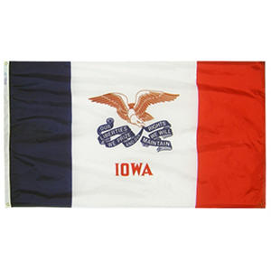 Annin - Iowa state flag 3x5 ft. Nylon SolarGuard