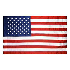 Annin - 2 1/2' x 4' Nyl-Glo U.S. Banner with Flagpole Sleeve and Leather Tab