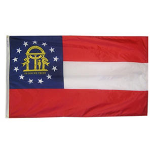 Annin - Georgia State Flag 4x6' Nylon SolarGuard