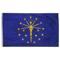 Annin - Indiana state flag 3x5 ft. Nylon SolarGuard