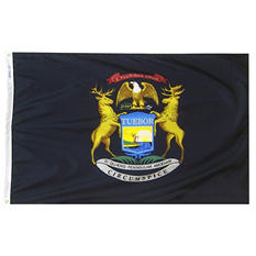 Annin - Michigan state flag 4x6 ft. Nylon SolarGuard