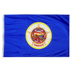 Annin - Minnesota state flag 4x6 ft. Nylon SolarGuard