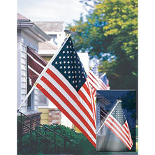 Annin Mansion Set - 3 x 5 US Flag with 6' Pole and Solar Light