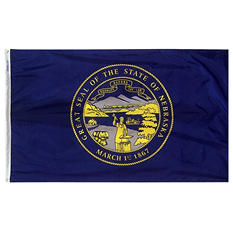Annin - Nebraska state flag 4x6 ft. Nylon SolarGuard