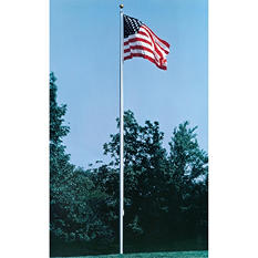 Annin - Cone Tapered Aluminum One Piece Flagpole. Pole & hardware only. 30 ft. X 4 in.