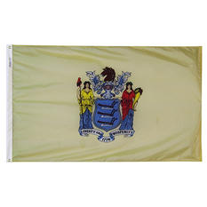 Annin - New Jersey state flag 3x5 ft. Nylon SolarGuard