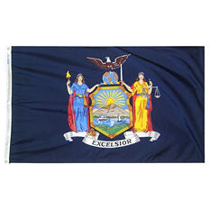 Annin - New York state flag 3x5 ft. Nylon SolarGuard