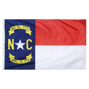 Annin - North Carolina state flag 4x6 ft. Nylon SolarGuard