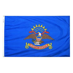 Annin - North Dakota state flag 4x6 ft. Nylon SolarGuard
