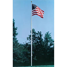 Annin - Cone Tapered Aluminum One Piece Flagpole. Pole & hardware only. 40 ft. X 7 in.