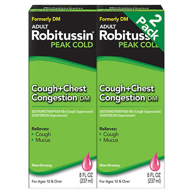 Adult Robitussin Peak Cold Cough + Chest Congestion DM - 2 / 8 oz.