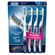 Oral-B Pulsar 3D White Toothbrush - Soft or Medium (4 pk.)