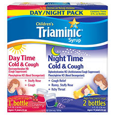 Triaminic Children's Syrup, Day Time & Night Time Cold & Cough - 3 pk.