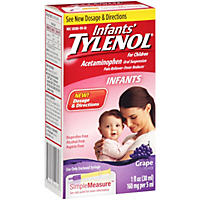 Infants' Tylenol Pain Reliever-Fever Reducer Grape Flavor Oral Suspension (1 fl. oz.)