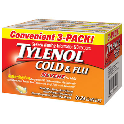 Tylenol Cold & Flu Severe - 24 ct. - 3 pk.