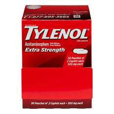 Tylenol Extra Strength Caplets - 50 pk. of 2 ct.