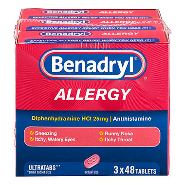 Benadryl Allergy Ultra Tabs - 48 ct. - 3 pk.