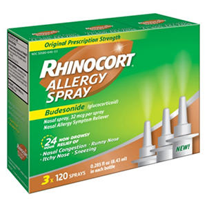Rhinocort Allergy Spray 3 x 120 ct.