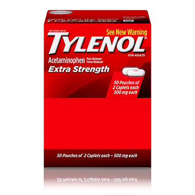 Tylenol® Extra Strength Caplets - 50/2 pks.