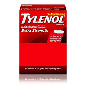 Tylenol® Extra Strength Caplets, 100ct. (2-50ct. packs)