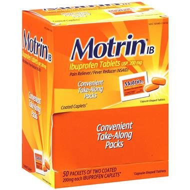 Motrin® IB Ibuprofen Tablets - 2 ct. - 50 pk.