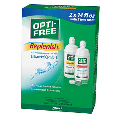 OPTI-FREE® RepleniSH® Solution - 2/14oz