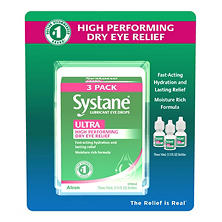 Systane Ultra Lubricant Eye Drops (1/3 fl. oz., 3 pk.)