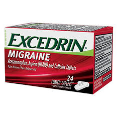 Excedrin Migraine Pain Reliever/Pain Reliever Aid Coated Caplets (24 ct.)