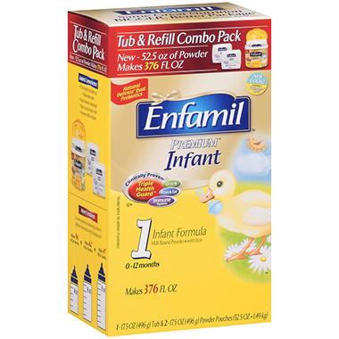 Enfamil - Premium Infant Formula Tub & Refill Combo Pack, 52.5 oz. - 1 pk.