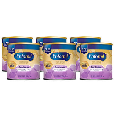 Enfamil Gentlease LIPIL Infant Formula (12.4 oz., 6 ct.)