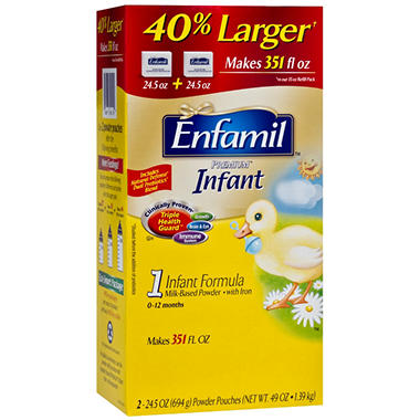 Enfamil - Premium Infant Formula Powder Pouches, 49 oz. - 1 pk.