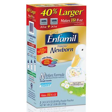 Enfamil - Premium Newborn Formula Powder Pouches, 24.5 oz. - 2 pk.