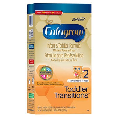 Enfagrow Toddler Transistions Infant & Toddler Formula (38 oz.)