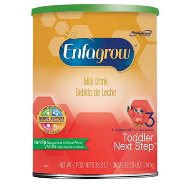 Enfagrow Toddler Next Step Milk Drink, Vanilla (36.6 oz.)