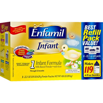 Enfamil - Premium Infant Formula Refill Pouches, 22.2 oz. - 3 ct.