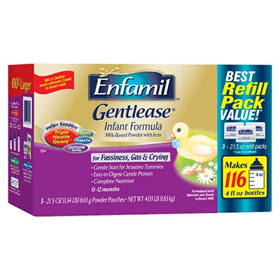 Enfamil - Gentlease Infant Formula Refill Pouches, 21.5 oz. - 3 ct.