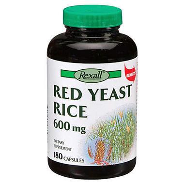 Rexall® Red Yeast Rice 600 mg - 180 capsules