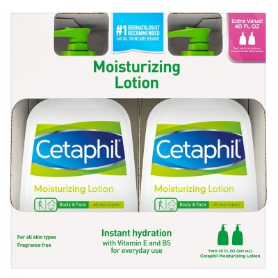Cetaphil Moisturizing Lotion 20 Fl Oz 2 Pk Sam S Club