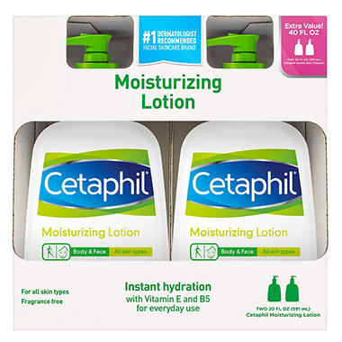 Cetaphil� Moisturizing Lotion - 2/20oz pumps