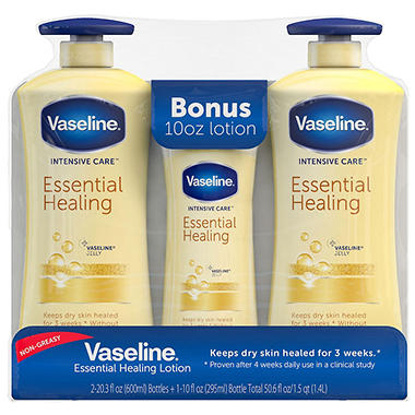 Vaseline Body Lotion, Repairing Moisture - 20.3 oz. - 2 ct. + 10 oz.