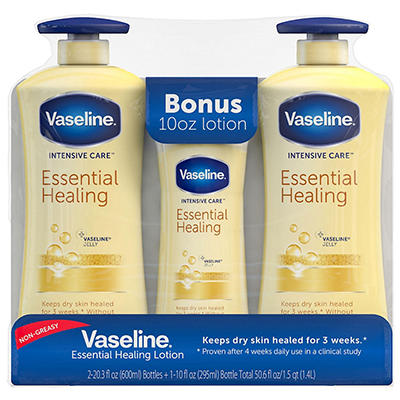 Vaseline Body Lotion, Repairing Moisture - 20.3 oz. - 2 ct. + 10 oz.