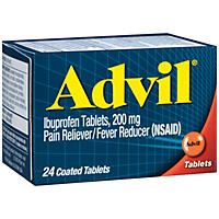 Advil Pain Reliever/Fever Reducer (NSAID) Coated Tablets (24 ct.)