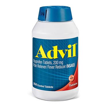 Advil Tablets - 200mg - 360 Tablets